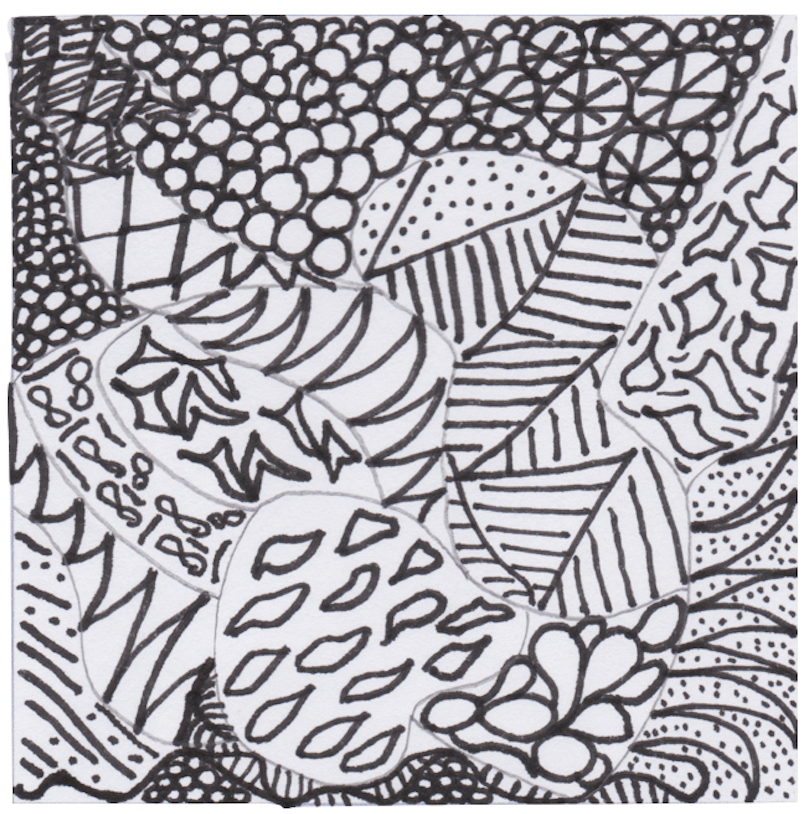 art therapy zentangles image for blog of same name