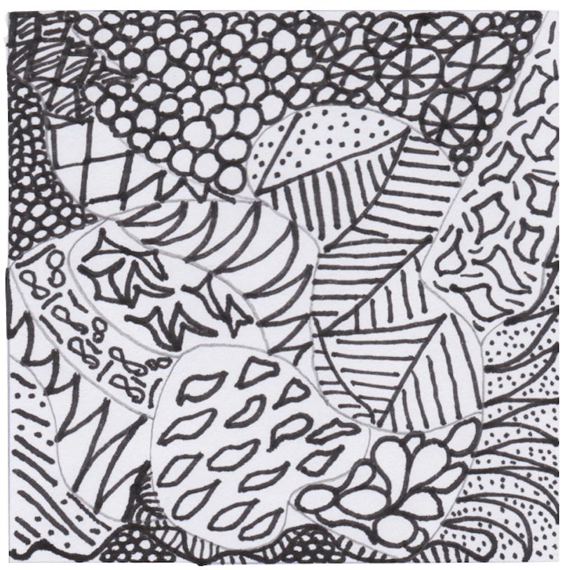 art therapy zentangles image for blog of same name